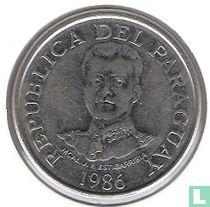 Paraguay 50 guaranies 1986