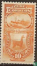 Dampfschiff und Lama