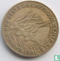 Centraal-Afrikaanse Staten 5 francs 1981