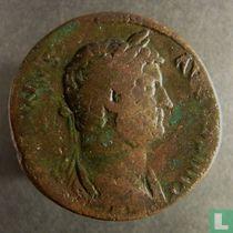Romeinse Keizerrijk - Sestertius van Hadrianus 117-138 AD