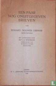 Een paar nog onuitgegeven brieven van Eduard Douwes Dekker (Multatuli).