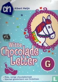 Witte chocolade letter