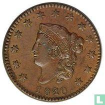 Verenigde Staten 1 cent 1820 (20 over 19)