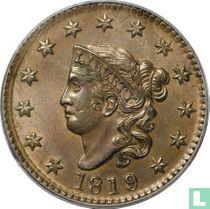 Verenigde Staten 1 cent 1819 (1819 over 1818)