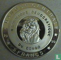 """Congo-Kinshasa 5 francs 1999 (BE) """"Willem - Alexander and Máxima"""""""