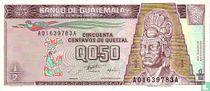 GUATEMALA 50 centavos van Quetzal