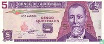 GUATEMALA 5 Quetzales