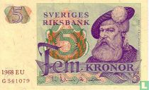 Schweden 5 Kronor 1968