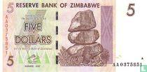 Zimbabwe 5 Dollars 2007