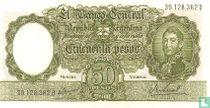 Argentinië 50 Pesos 1968