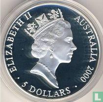 "Australië 5 dollars 2000 (PROOF) ""Summer Olympics in Sydney - Kangaroo"""