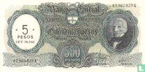 Argentinië 5 Pesos op 500 Pesos 1969