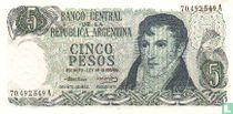 Argentinië 5 Pesos 1971
