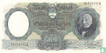 Argentinië 500 Pesos 1964