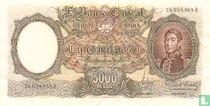 Argentinië 5000 Pesos 1962