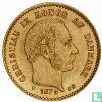 Denemarken 10 kroner 1874