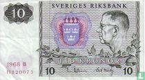 Schweden 10 Kronor 1968