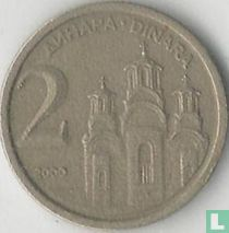 Joegoslavië 2 dinara 2000