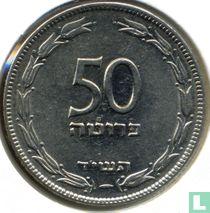 Israël 50 pruta 1954 (jaar 5714 - koper-nikkel)