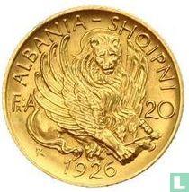 Albania 20 franga ari 1926