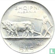 Albania 5 franga ari 1927