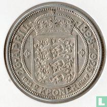 """Denemarken 2 kroner 1923 """"Silver wedding anniversary"""""""