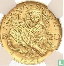 Albania 20 franga ari 1927