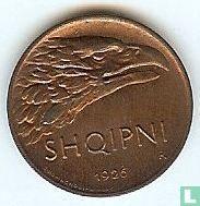 Albanië 10 qindar leku 1926