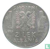 Albanië 2 lek 1939 (magnetisch)