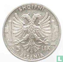 Albania 5 lek 1939
