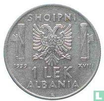 Albania 1 lek 1939 (magnetic)