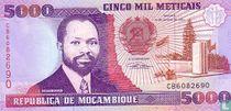 MOZAMBIQUE 5,000 Meticais