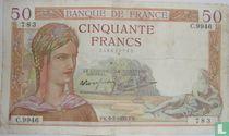 Frankreich 50 Francs 1938