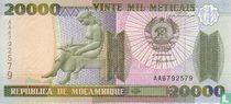 MOZAMBIQUE 20,000 Meticais