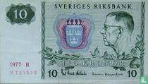 Schweden 10 Kronor 1977