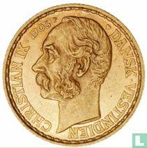Deens West-Indië 4 daler / 20 francs 1905