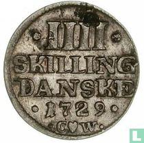 Denemarken 4 skilling 1729