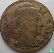 Argentinië 5 centavos 1945