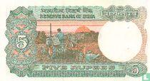 India 5 Rupees 1997