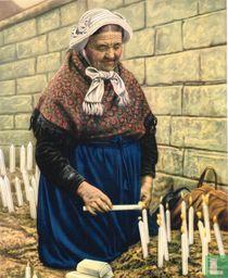 Scherpenheuvel - Brandende kaarsen op den doortocht van de Processie