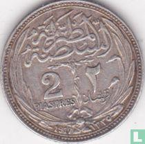 Egypte 2 piastres 1917 (met binnen cirkel)
