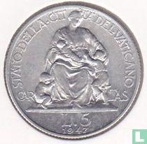 Vaticaan 5 lire 1947