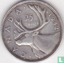 Canada 25 cents 1942