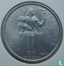 Frans-Polynesië 5 francs 1965