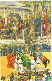 Bergen - De strijd van Sint Joris met den Draak op de Groote Markt