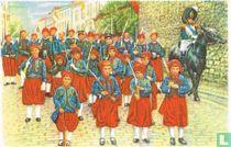 """Fosse - De Zouaven in de """"marsch"""" van Sint-Feuillien"""
