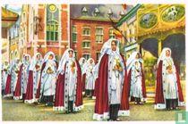 Nijvel - De Dames Kanunniken in de Processie der Heilige-Gertruidis