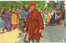 Brugge - De Heilige-Bloedprocessie. Jezus doet zijn intrede in Jeruzalem