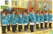 """Thuin - De groep der strijders van 1830 in de """"marsch"""" van den Heiligen Rochus"""
