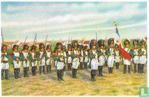 """Fosse - De grenadiers van de Keizerlijke garde in de """"marsch"""" van Sint-Feuillien"""
